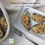 Peperoni ripieni vegetariani cotti nella bistecchiera