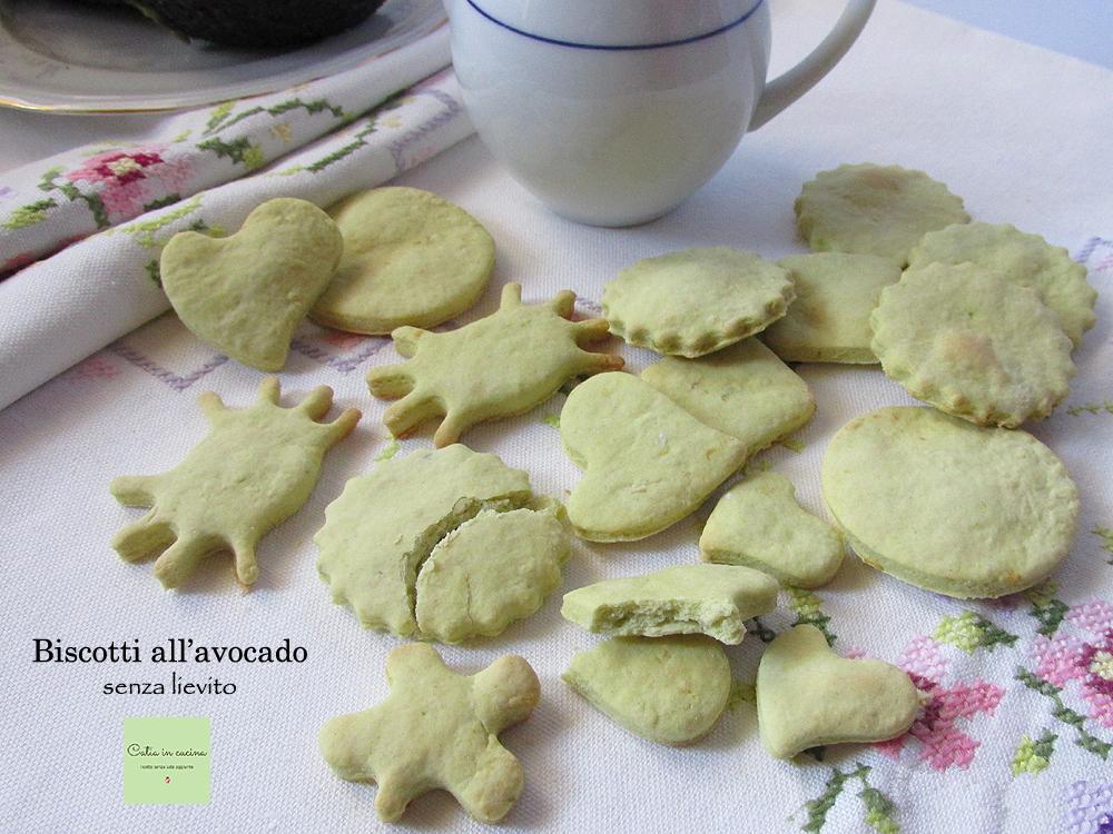 biscotti con avocado al posto del burro senza lievito