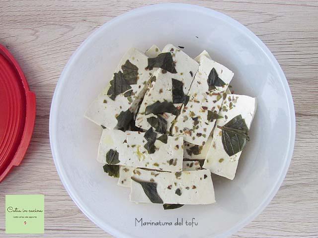 insalata di sorgo-marinatura tofu