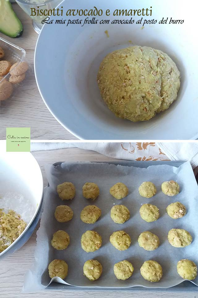 biscotti avocado e amaretti steps