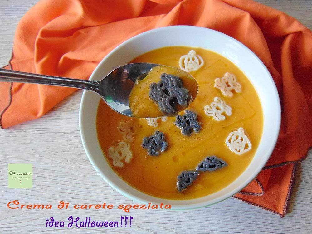 crema di carote speziata halloween