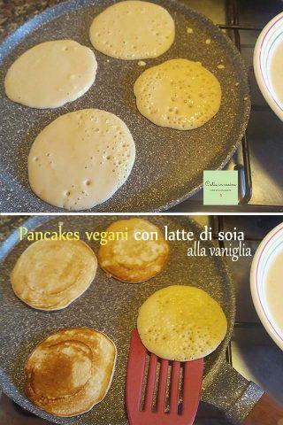 pancakes vegani steps