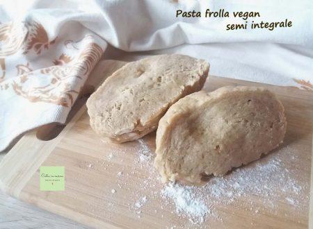 Pasta frolla vegan semi integrale