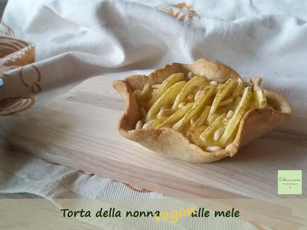 torta della nonna vegan alle mele