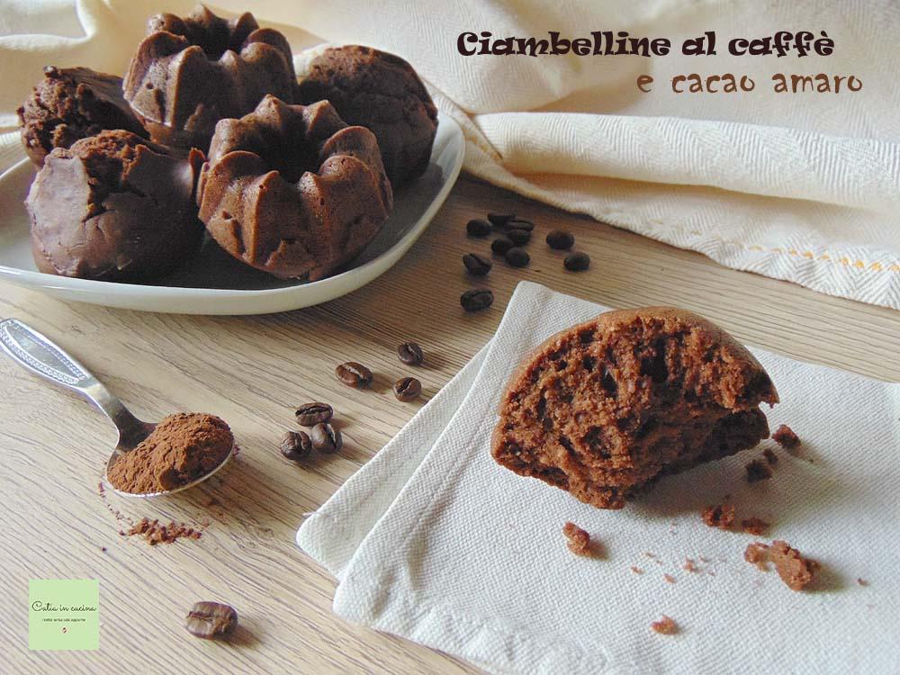 ciambelline al caffe' e cacao amaro