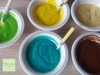 ciambella colorata - colori