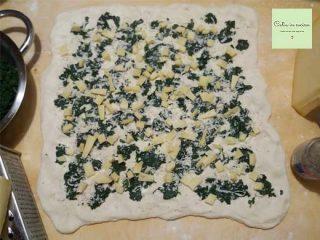 corona di pane - ripieno spinaci grana fontal