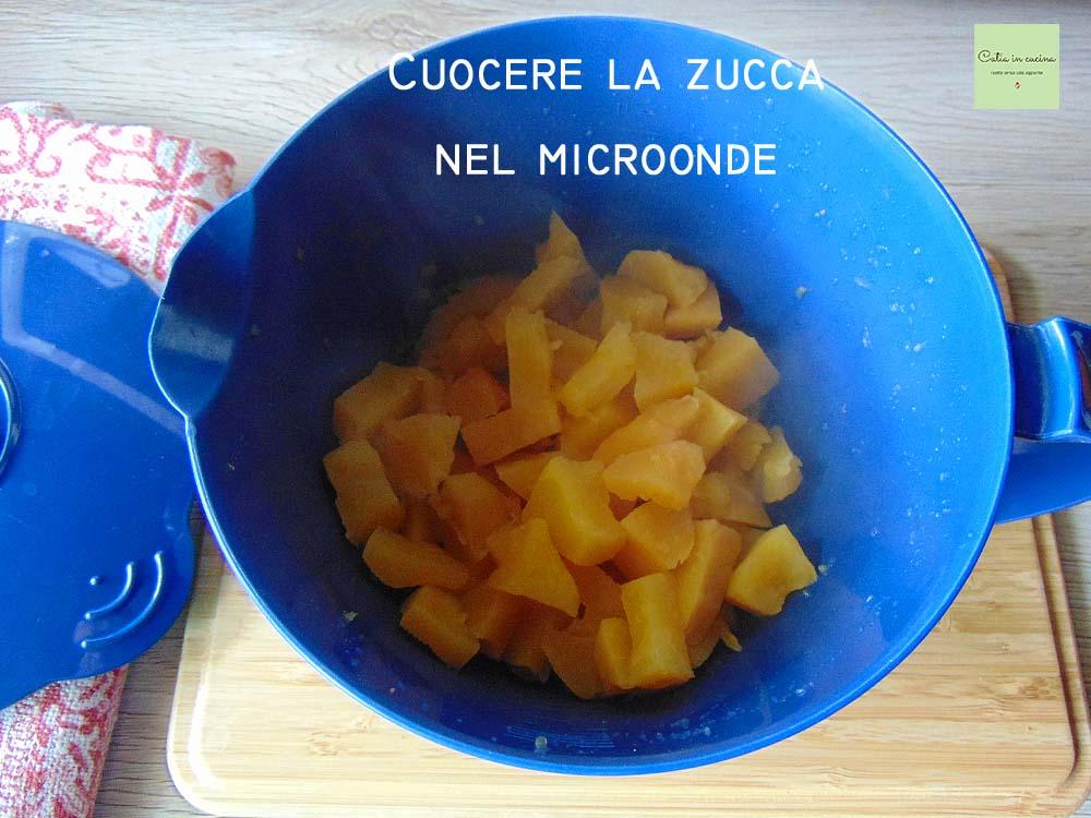 cuocere la zucca nel microonde