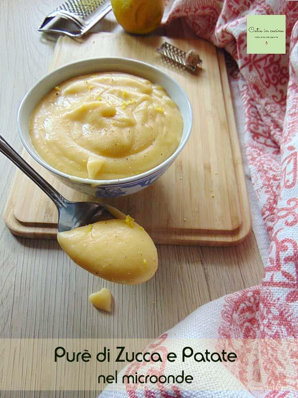 purè di zucca e patate goccia a cuore