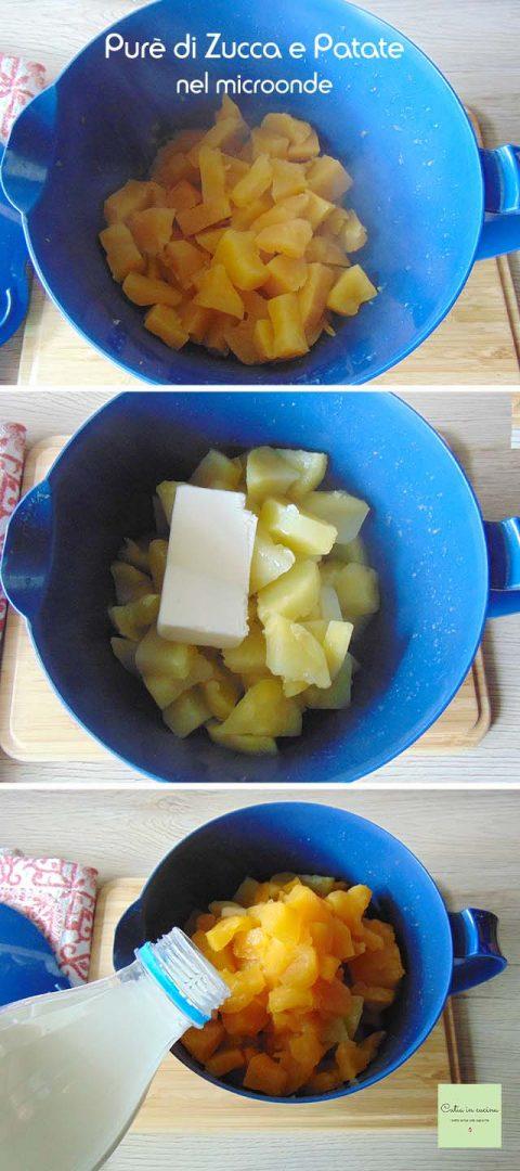 purè di zucca e patate nel microonde steps1-2-3