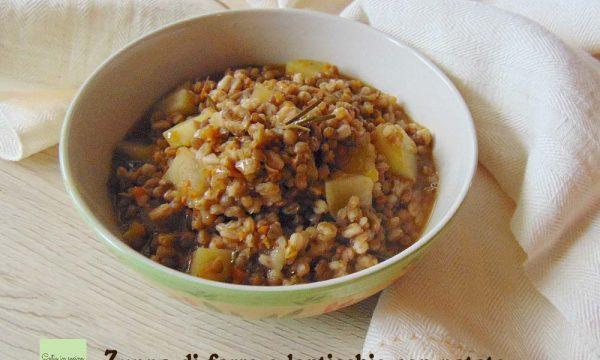 Zuppa di farro e lenticchie con patate
