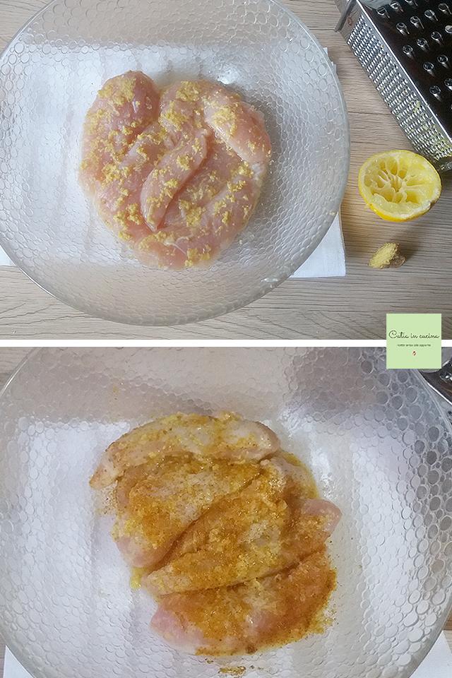 filetti di pollo speziati marinatura