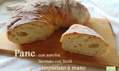 Pane con autolisi impastato a mano (con licoli)