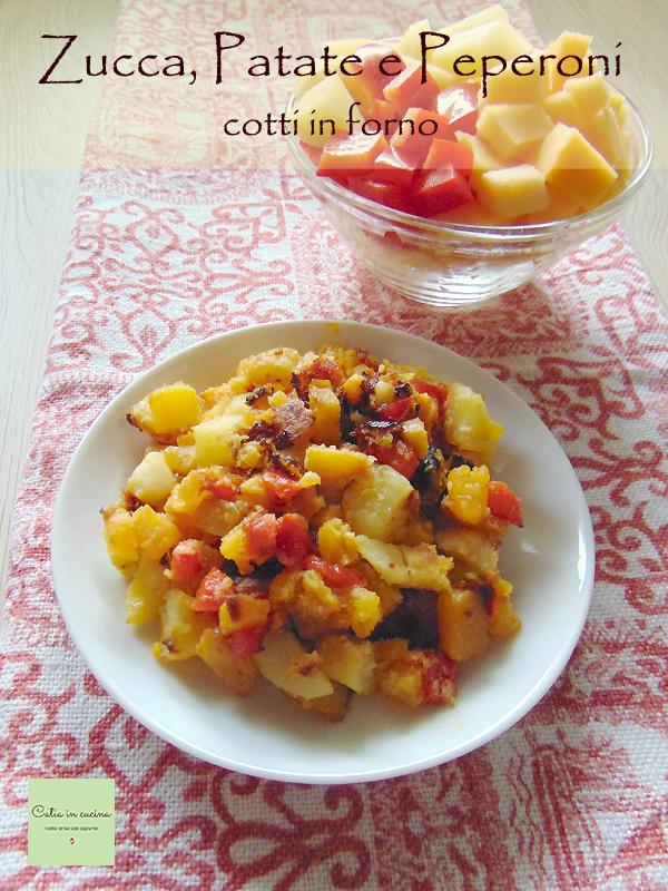 zucca patate e peperoni
