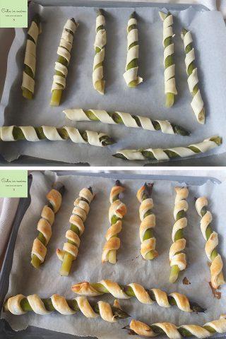 Asparagi avvolti in pasta sfoglia steps