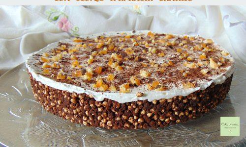 Cheesecake cioccolato e arancia candita