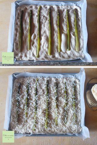 focaccia con asparagi e stracchino steps3-4