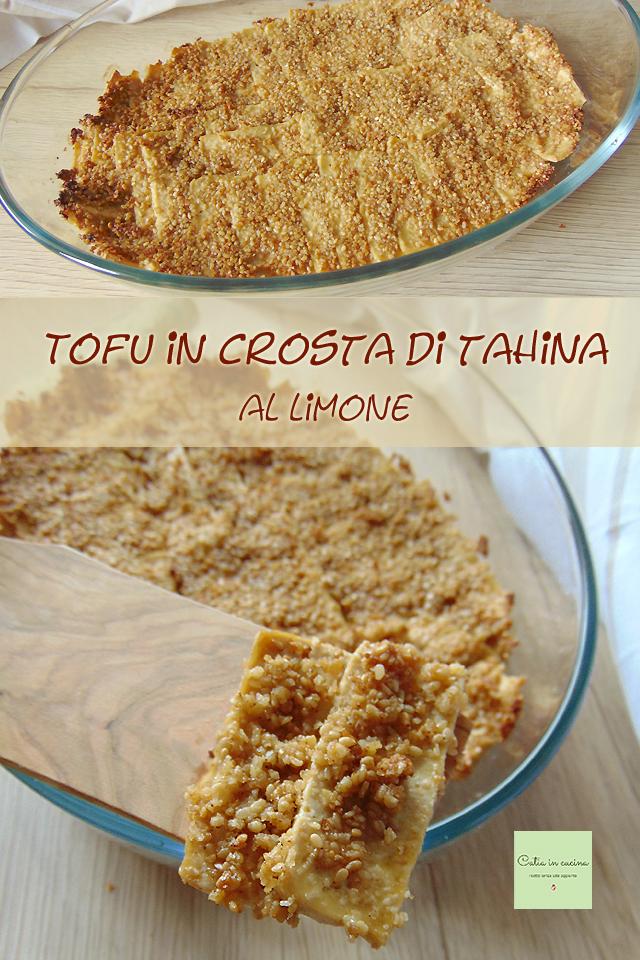 tofu gratinato in crosta di tahina al limone