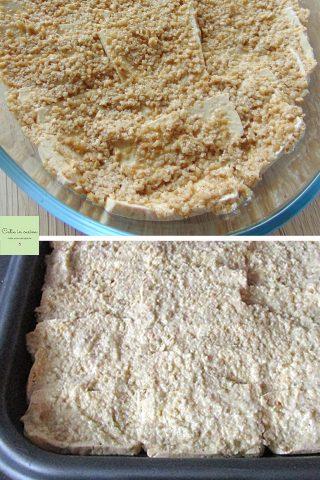 tofu in crosta di tahina prima della gratinatura
