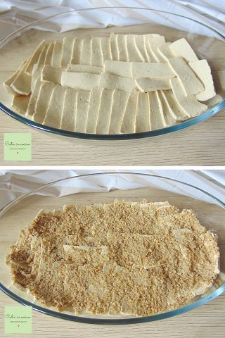 tifu in crosta di tahina - steps