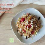 Insalata di cereali con fragole e aceto balsamico