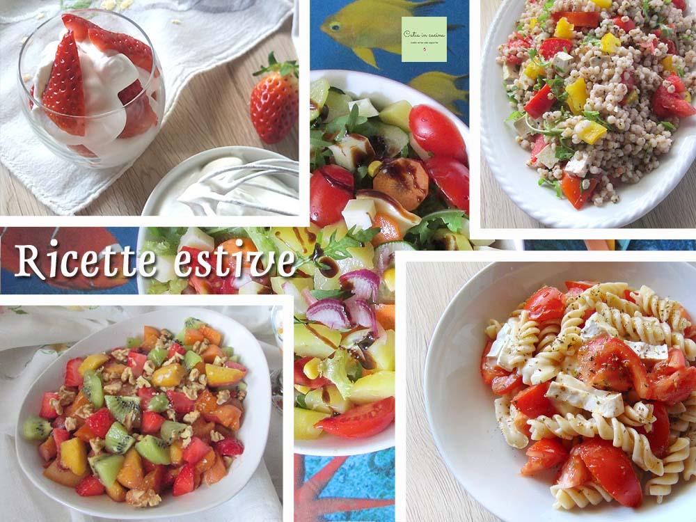 raccolta di ricette estive