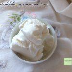 Gelato di kefir e panna aroma limone
