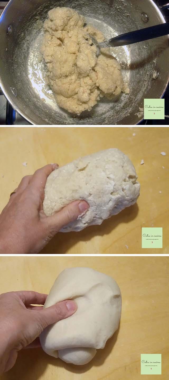 gnocchi di farina steps 1-2-3