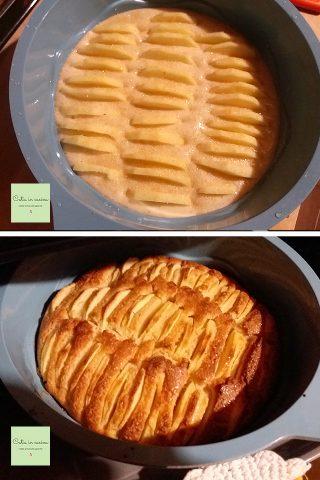 torta di mele leggera steps