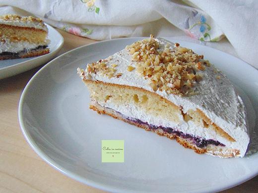 torta farcita - decorazione granella