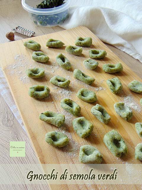 gnocchi di semola verdi