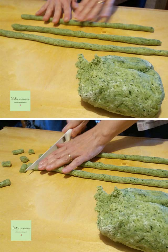gnocchi verdi steps