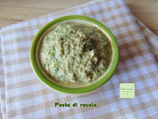 pesto di rucola per riso gratinato