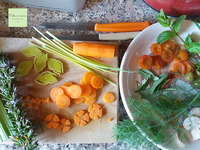 focaccia decorata - ingredienti