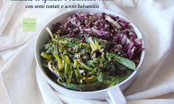 Insalata di spinaci e radicchio rosso