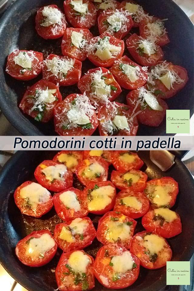 pomodorini cotti in padella con erbe aromatiche fresche