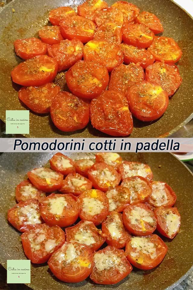 pomodorini cotti in padella con erbe aromatiche secche