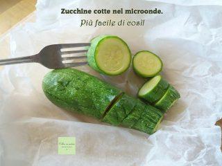 zucchine cotte nel microonde
