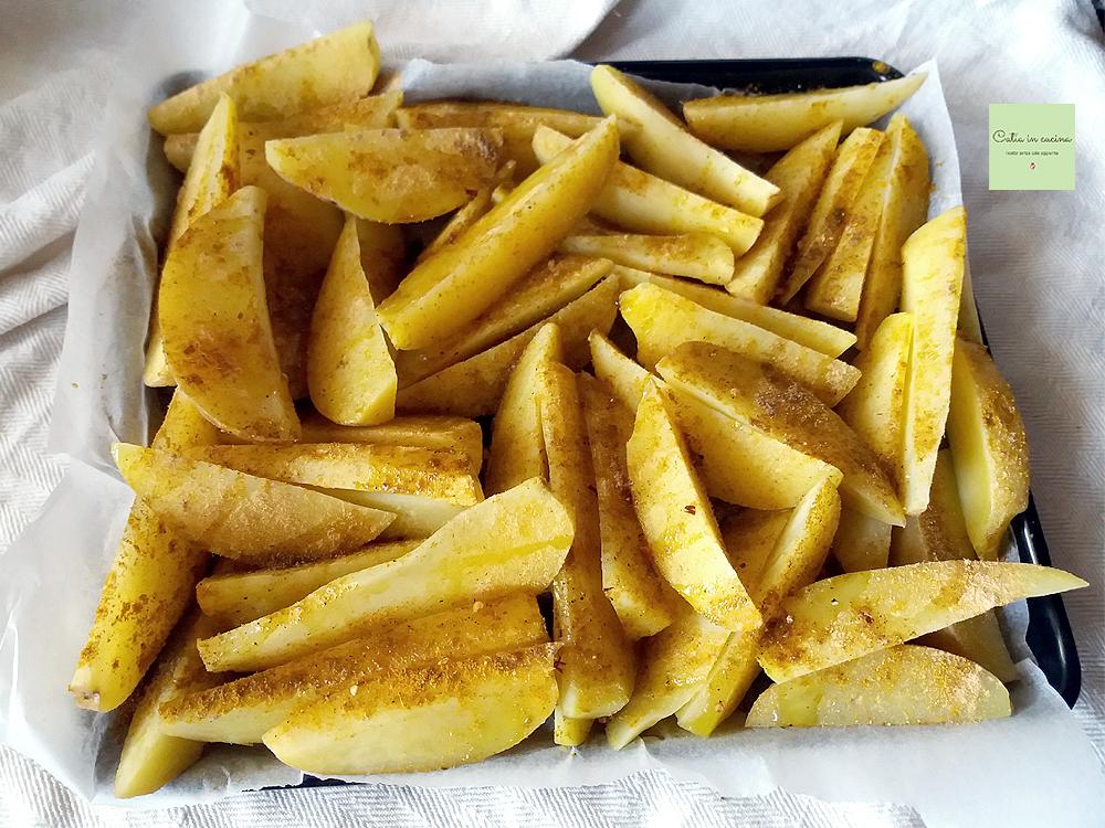 patate speziate con la buccia - da infornare