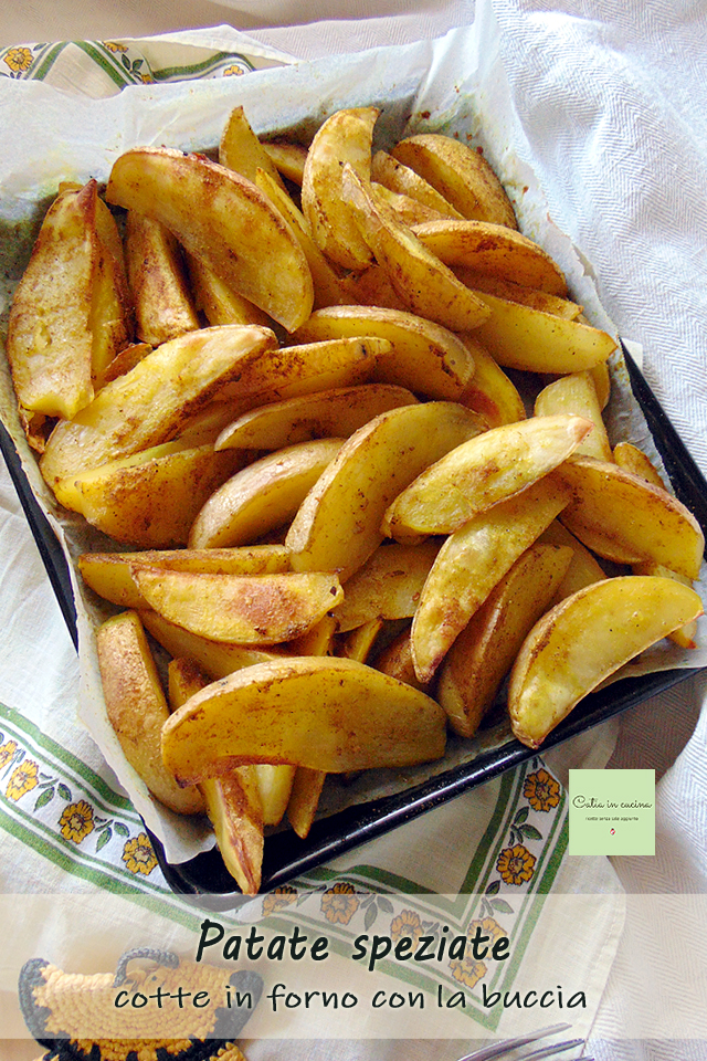 patate speziate con la buccia