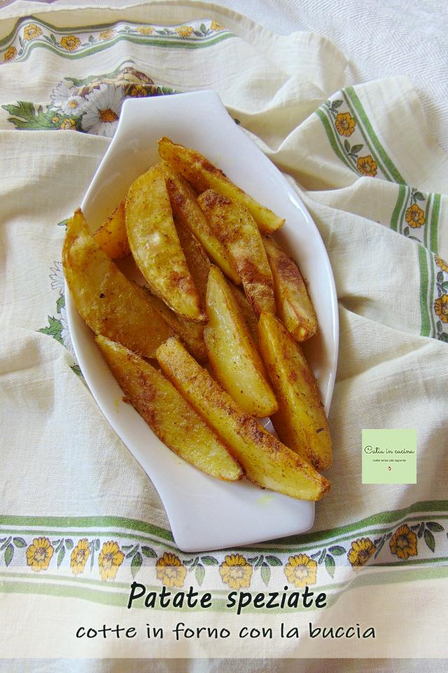 spicchi di patate speziate porzione