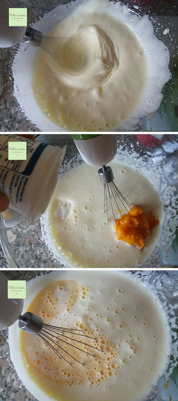 zucca in torta stregata - steps