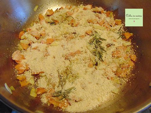 zuppa speziata di mele e lenticchie step2