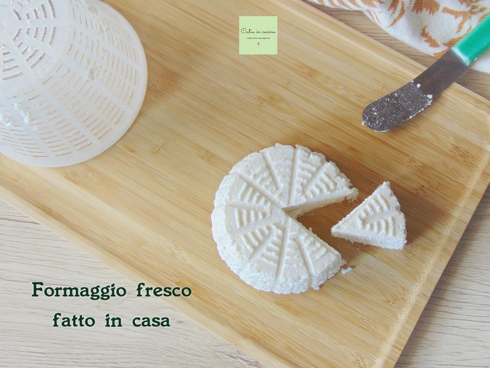 formaggio fresco fatto in casa