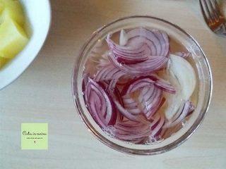 cipolla in aceto per insalata di zucca e patate