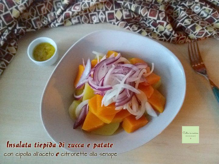 insalata tiepida di zucca e patate con cipolla