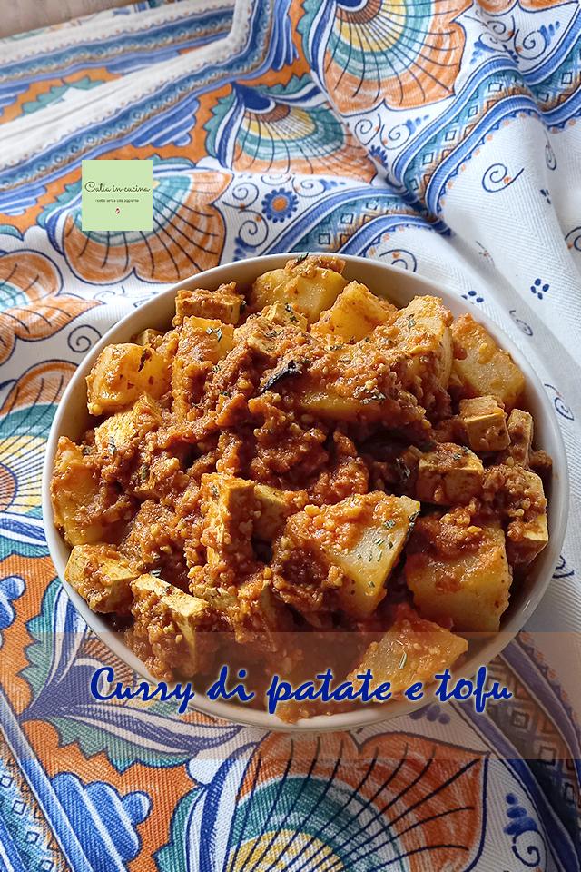 curry di patate e tofu