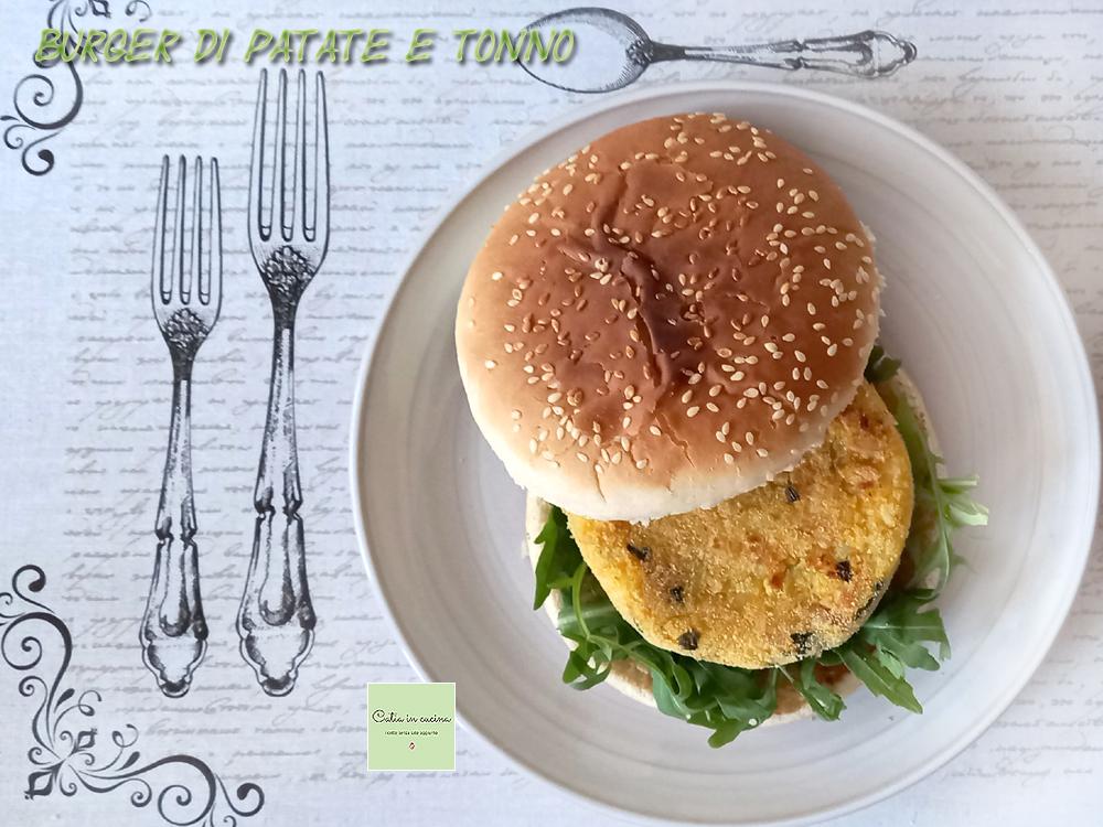 burger di tonno e patate nel panino
