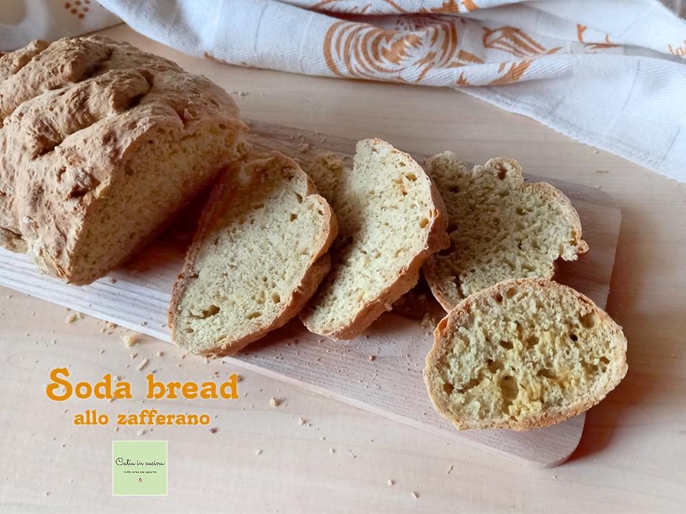 soda bread allo zafferano