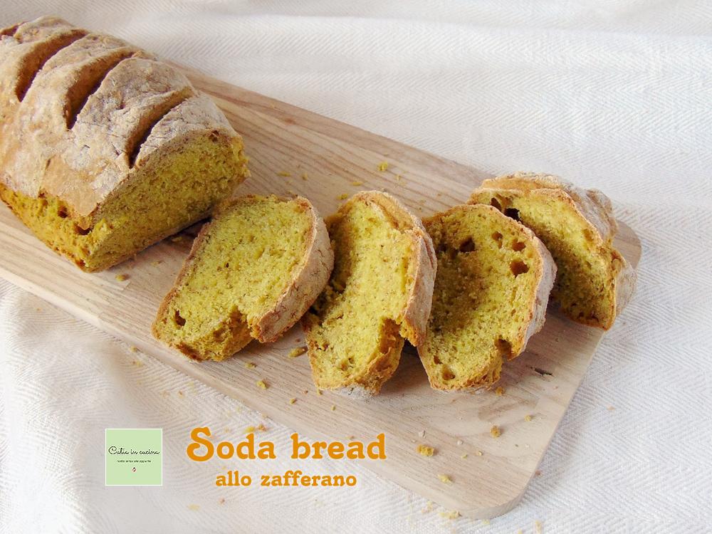 soda bread giallo allo zafferano